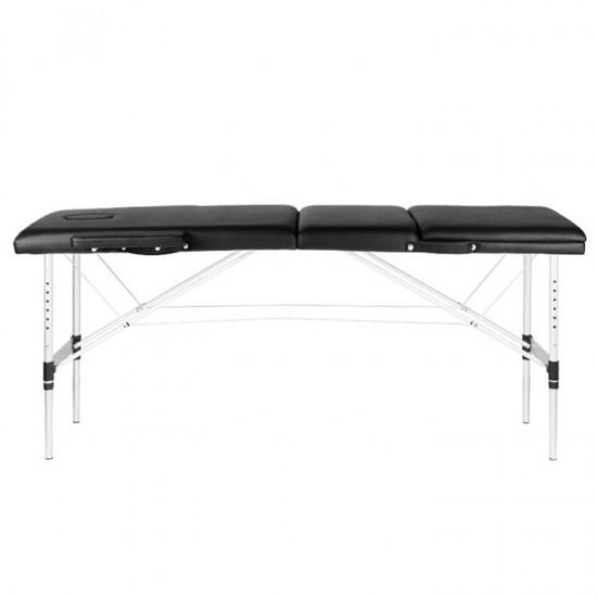 Κρεβάτι Μασάζ 3 Θέσεων Aλουμίνιο με ανάκλιση πλάτης Comfort Black - 0126969
