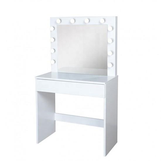 Επαγγελματικό τραπέζι make-up 80cm και Hollywood Mirror Luxury - 6900134