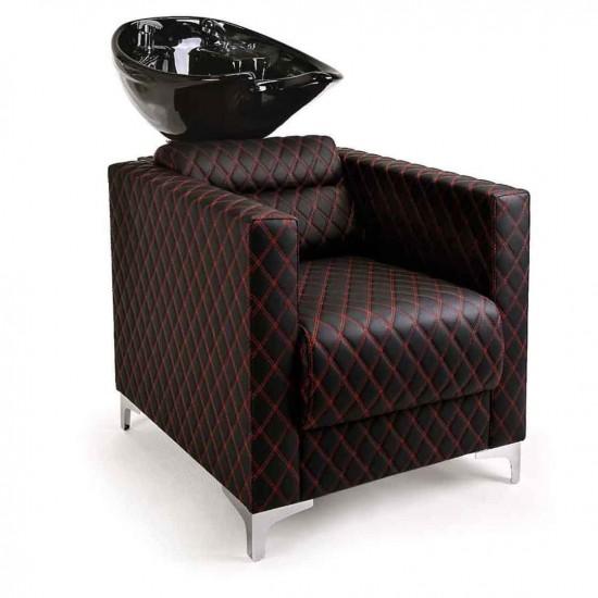 Επαγγελματικός λουτήρας κομμωτηρίου Glasgow  black & red - 8600013