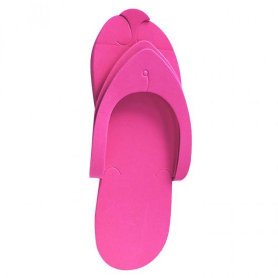 Παντόφλες pedicure και αισθητικής συσκευασία 12 ζεύγη hot pink - 3280034