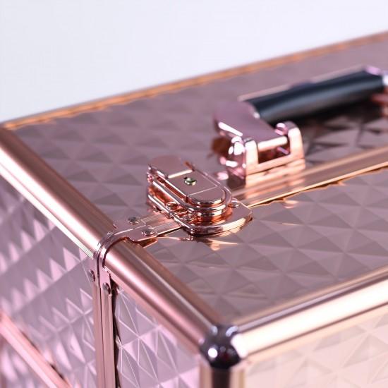 Επαγγελματική βαλίτσα ομορφιάς Lcd Diamond Rose Gold - 3280223
